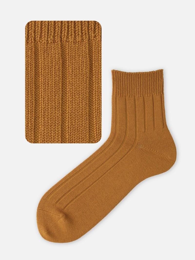 Schlichte Socke mit breiter Rippung 96N remeshed L.