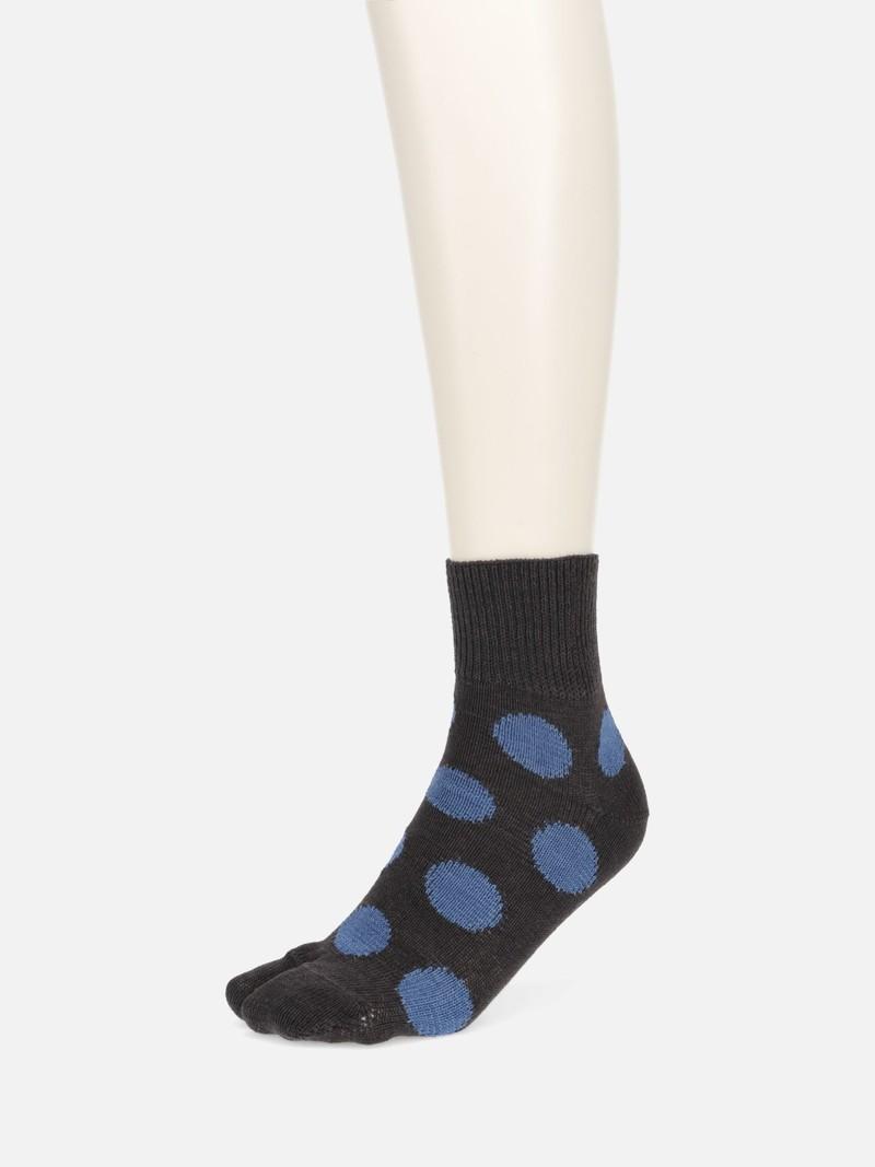 Denim Dots Tabi Low Crew Socks
