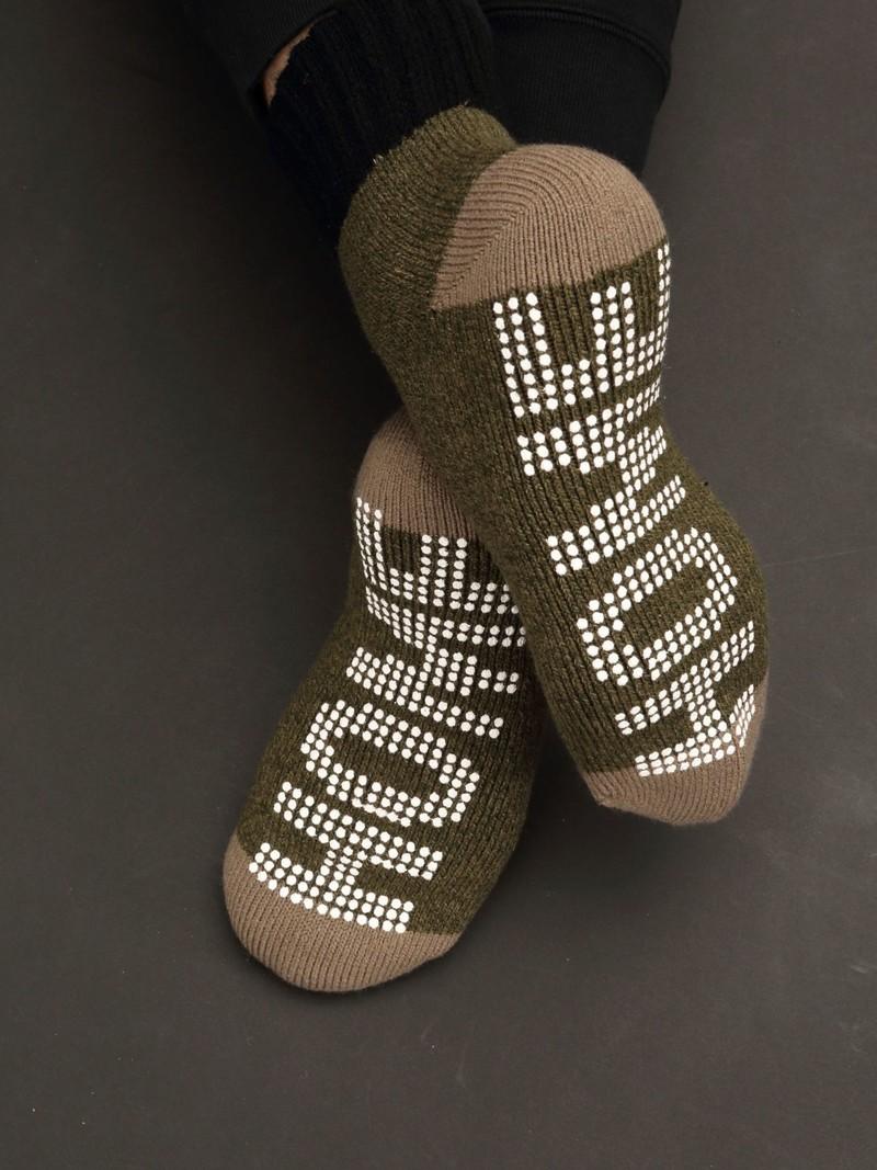 Room Socks anti-dérapant bicolore L