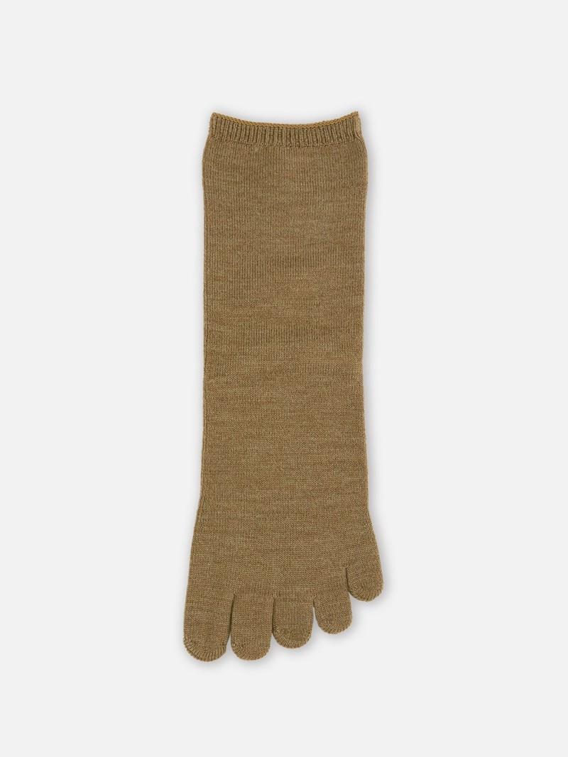 Mérino Wool Plain Flat Top Low Crew Toe Socks