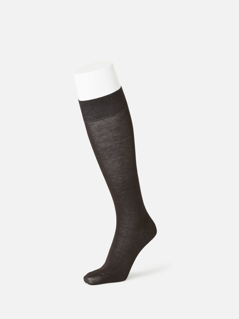 Cotton 100% Plain High Socks M