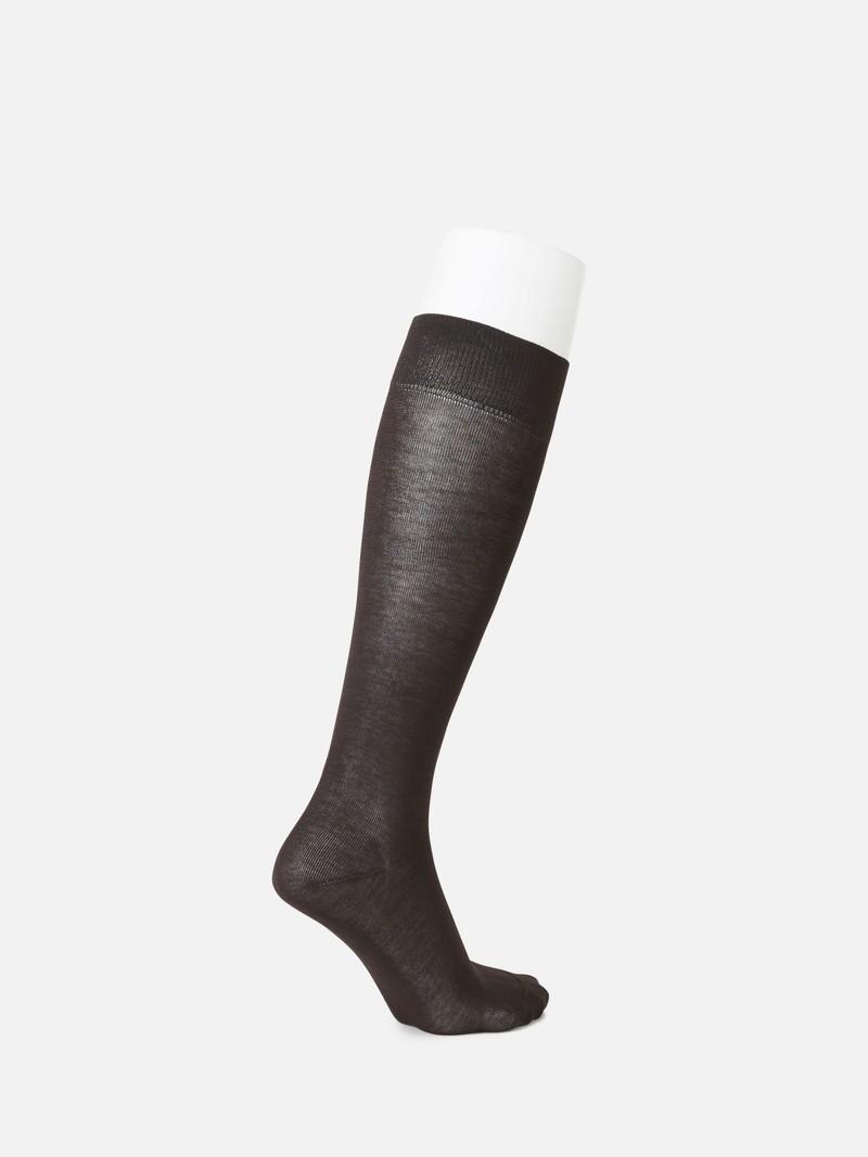 Hohe schlichte Socke aus reiner Baumwolle M
