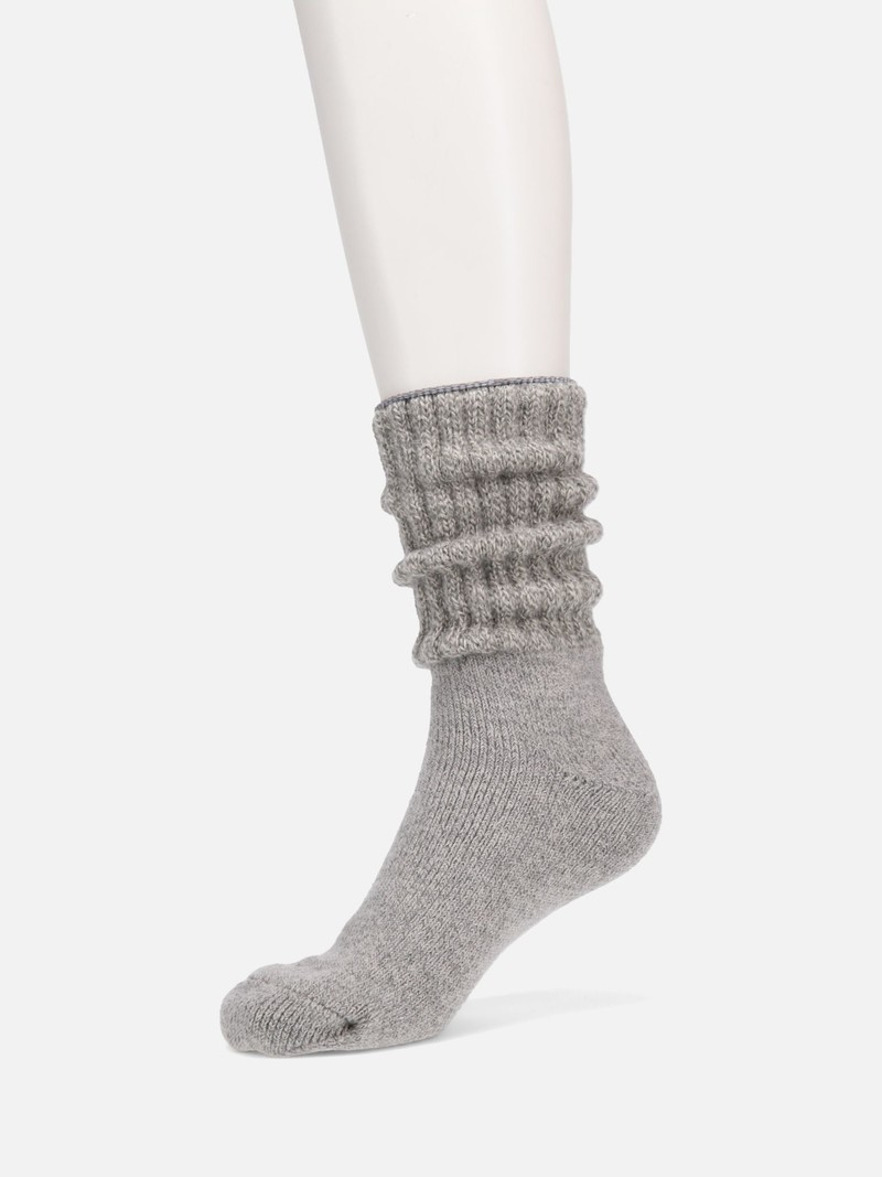 Silk/Angora American Ribbed Room Socks