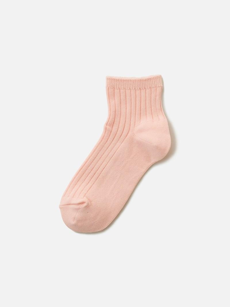 Kids Cotton Ribbed Short Socks 16-18cm