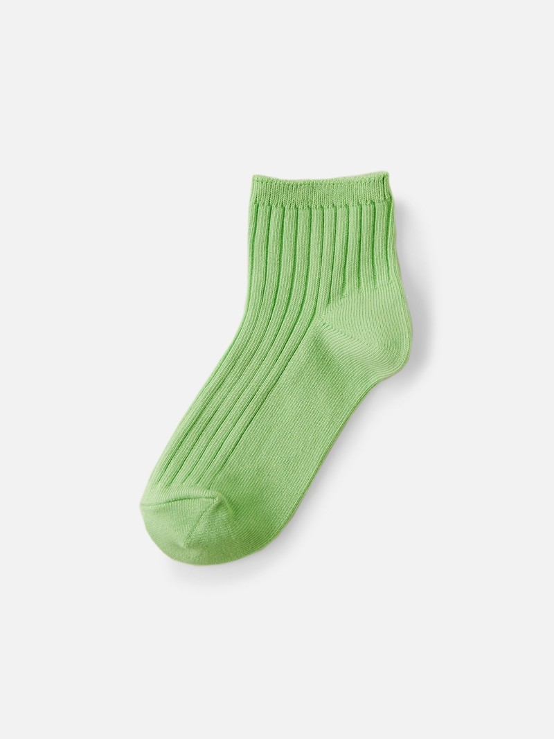 Kids Cotton Ribbed Short Socks 19-21cm