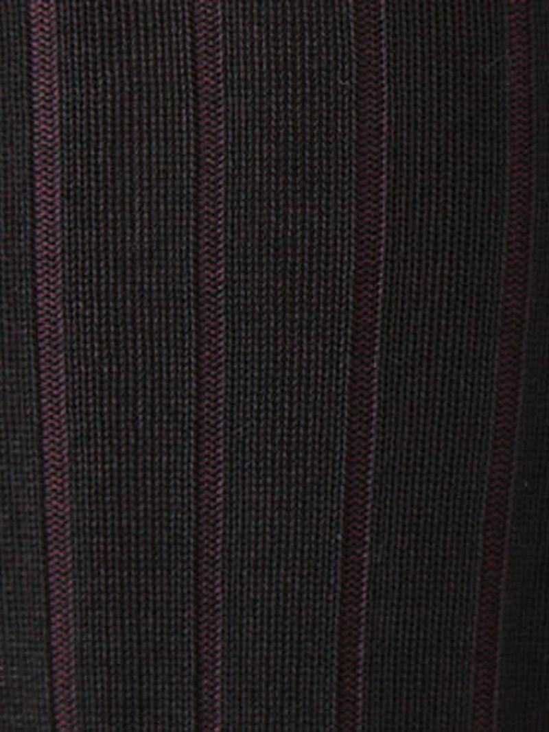 Chaussette haute à côtes 9x2 M