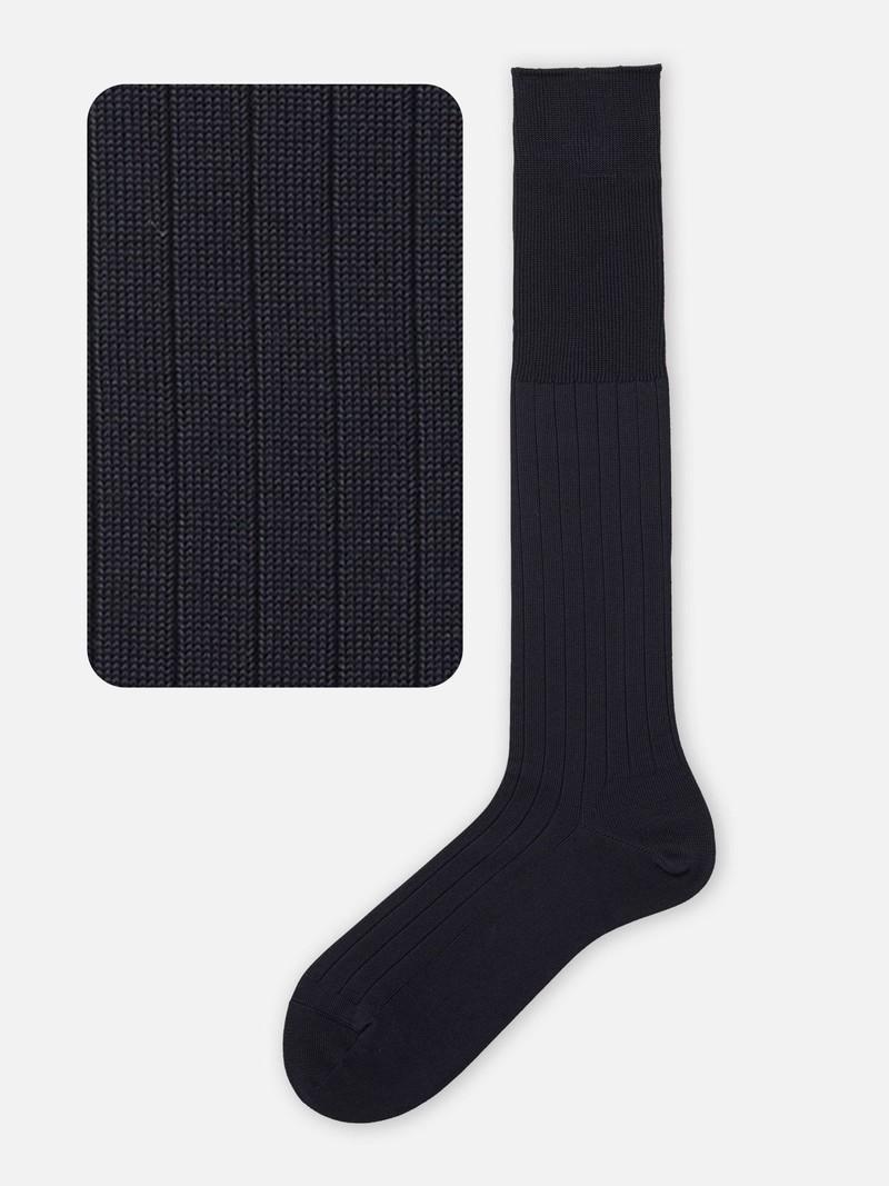 9x2 Ribbed Knee High Socks M