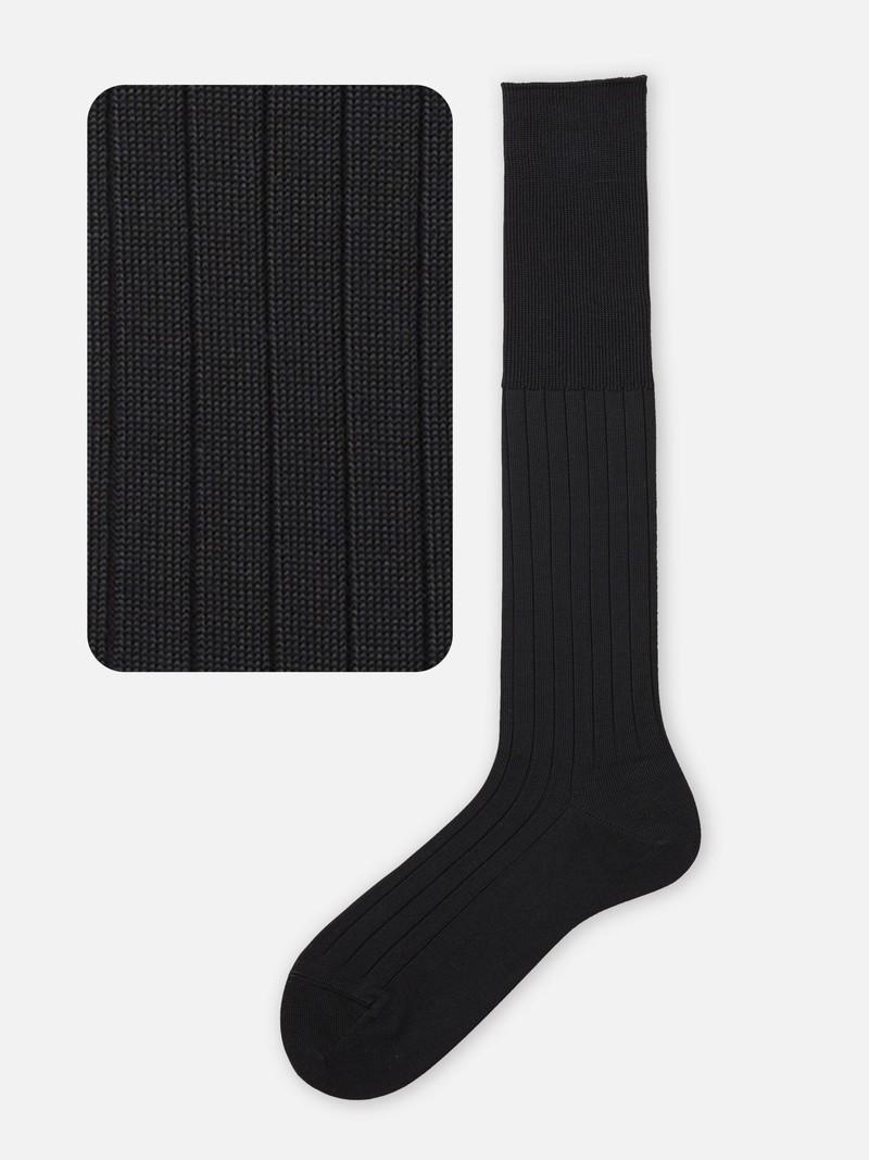 9x2 Ribbed Knee High Socks L