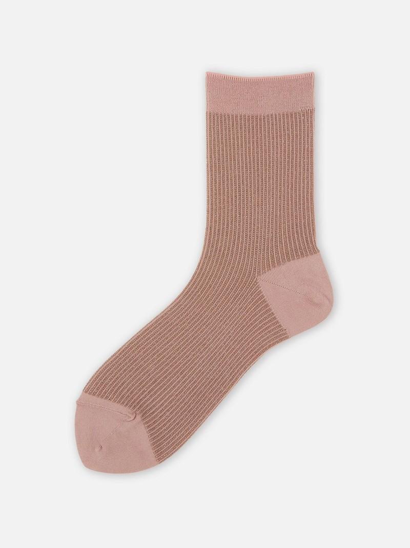 Sparkly Fine Ribbed Low Crew Socks