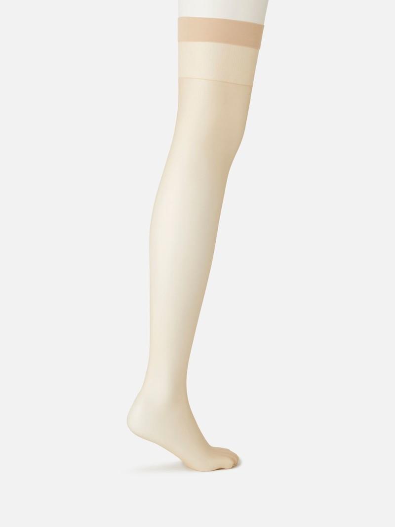 Natural Touch Basic Thigh-High Socks 17D