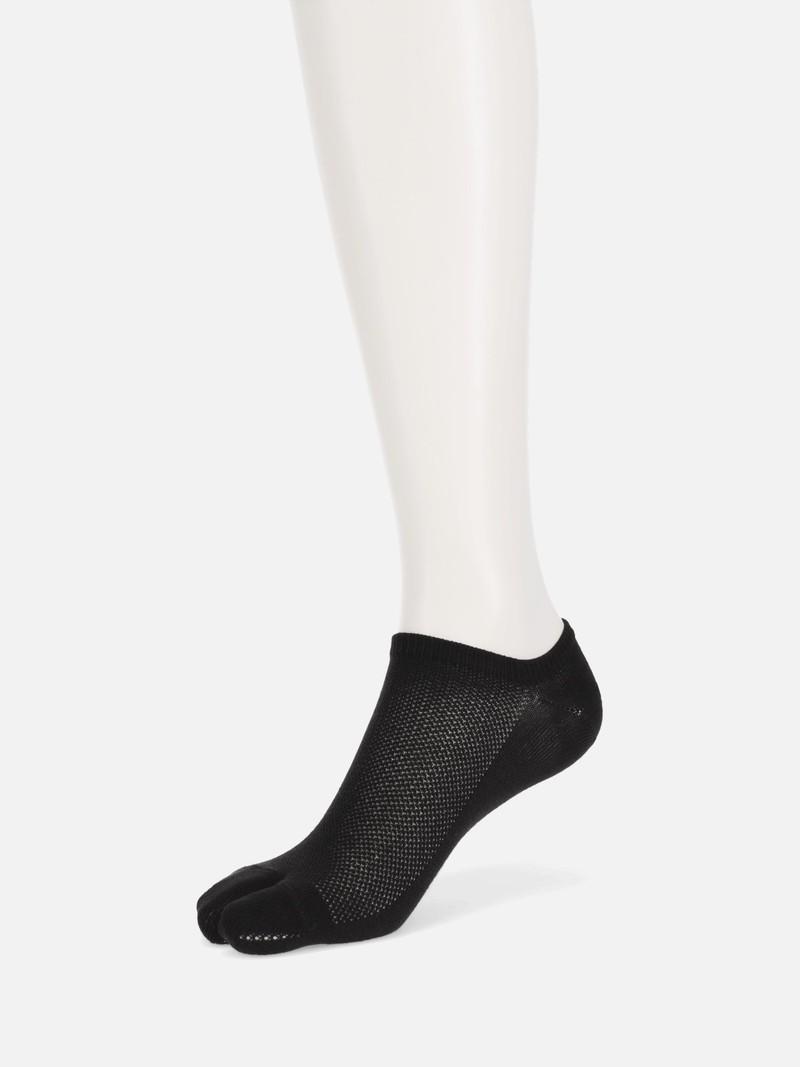 Plain Mesh Trainer Tabi Socks