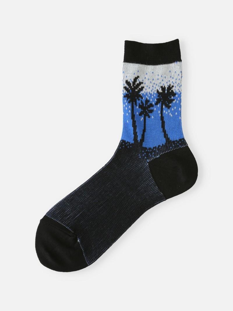 Socquette palmier fond dégradé
