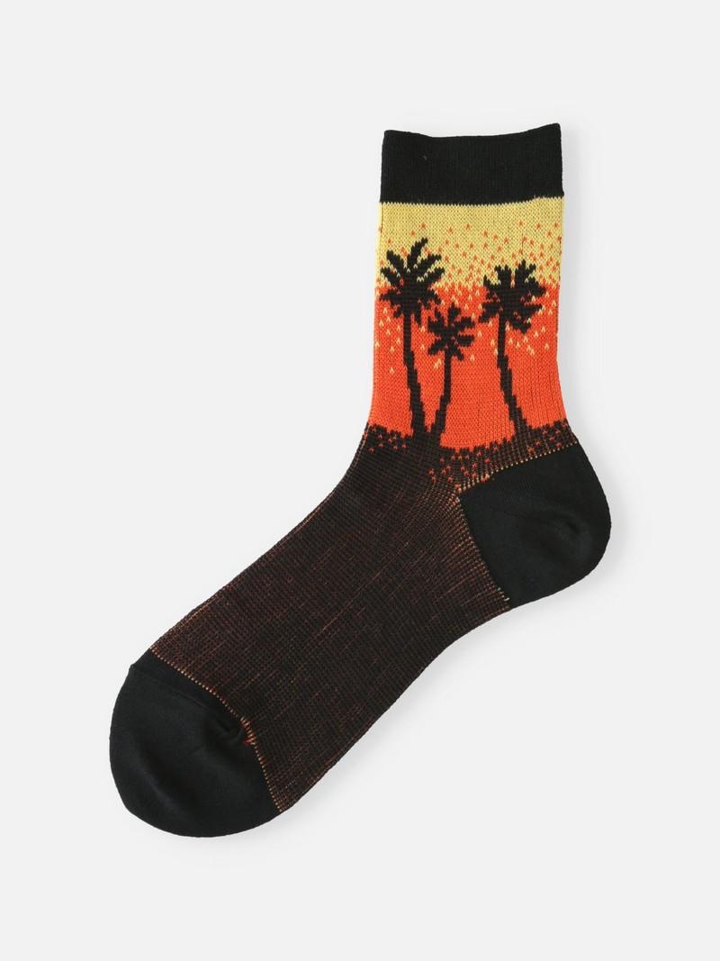 Palm Tree Gradation Low Crew Socken