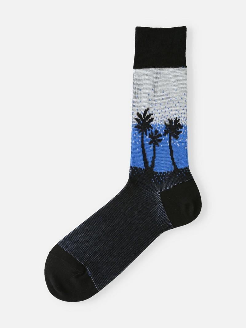 Palmboom Gradatie High-Cut Herensokken