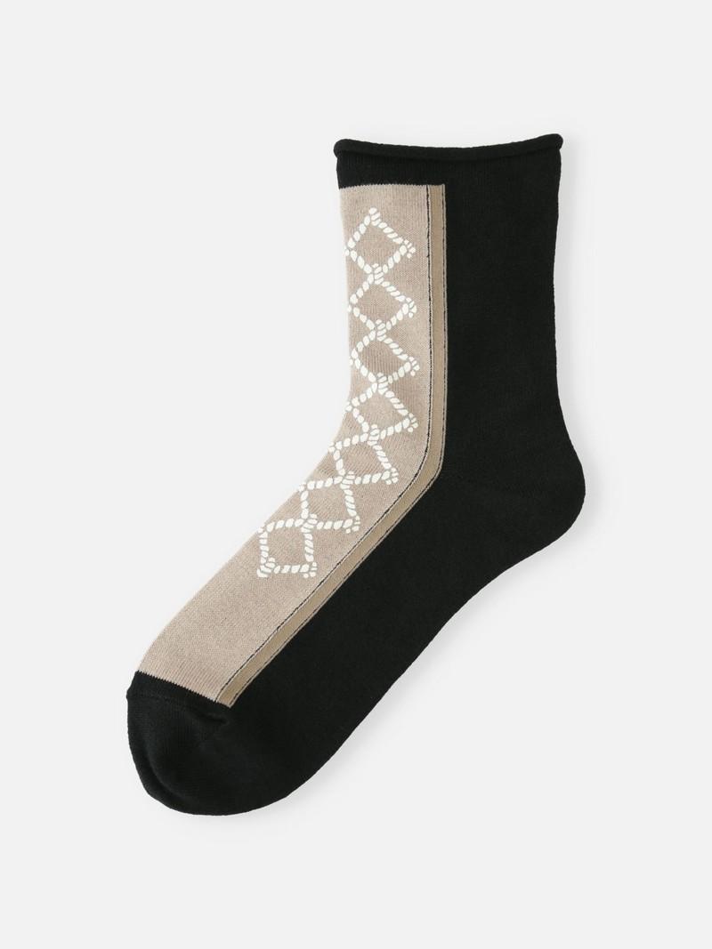 Lage sokken aan de voorkant met touwtjesprint