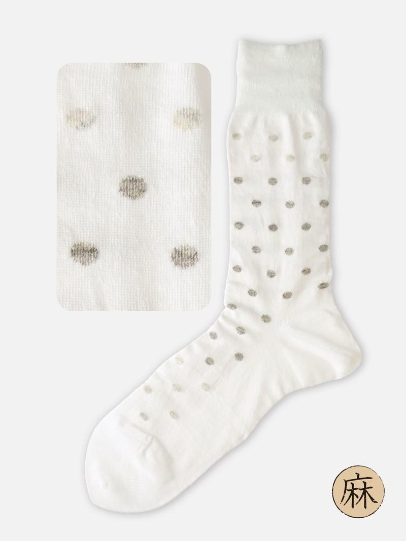 Leinen Dot Mid-Calf Socken M