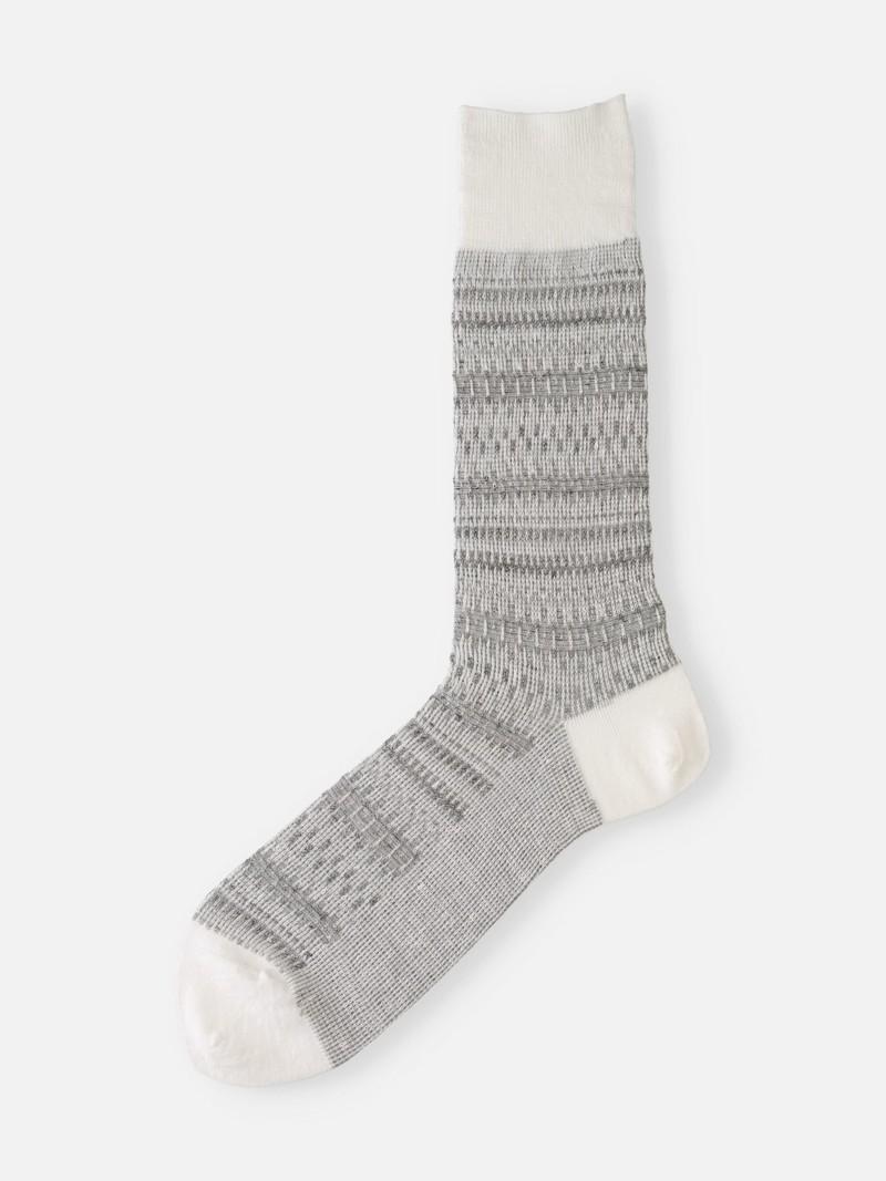 Leinen Fair Isle Mid-Calf Socken M