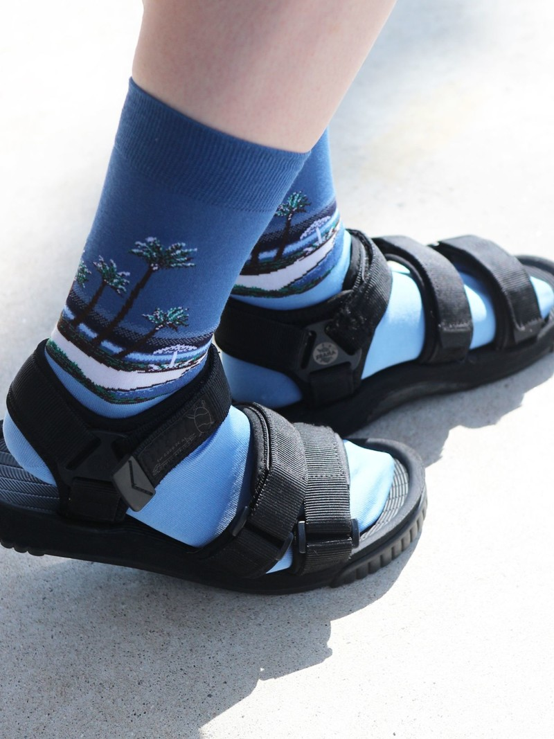 Vacation Beach Crew Socks