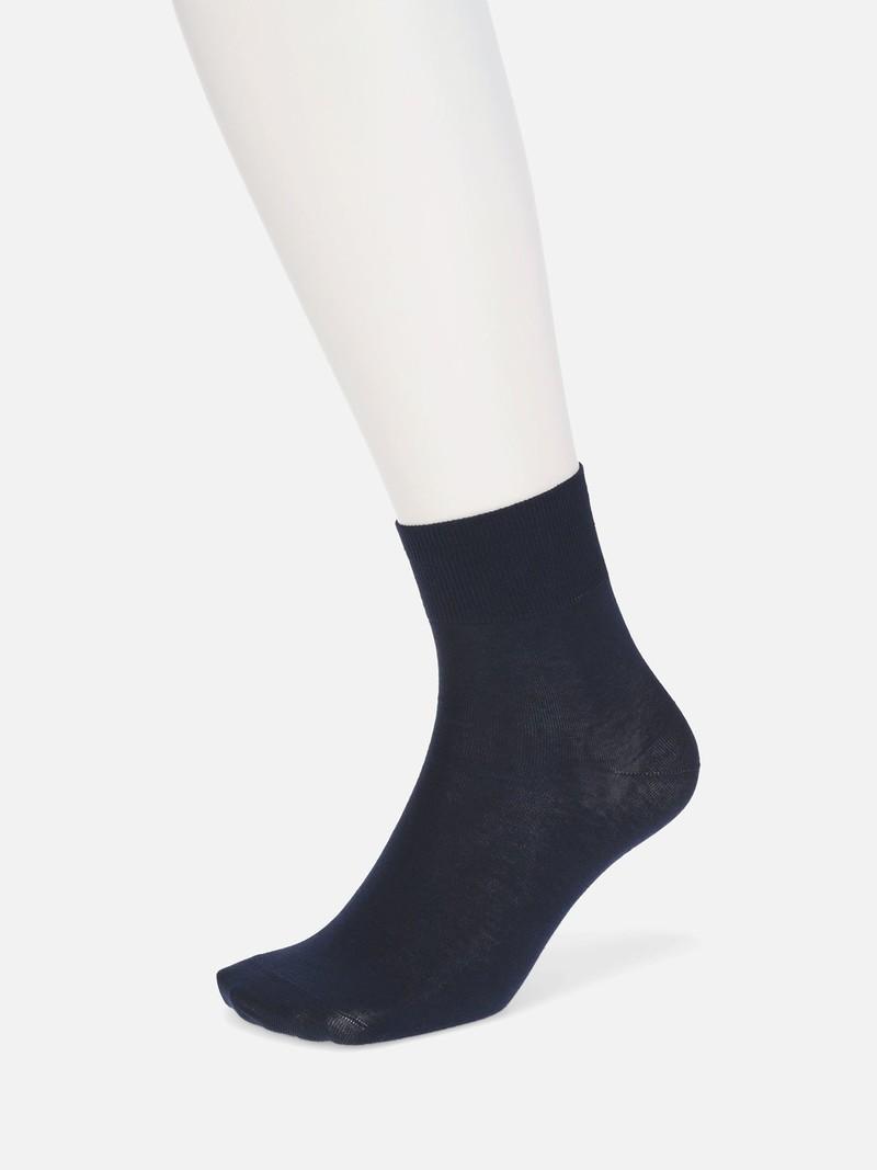 Socquette unie en coton/lin M