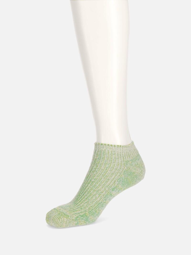 Leinen Vintage Dye Ribbed Trainer Socken