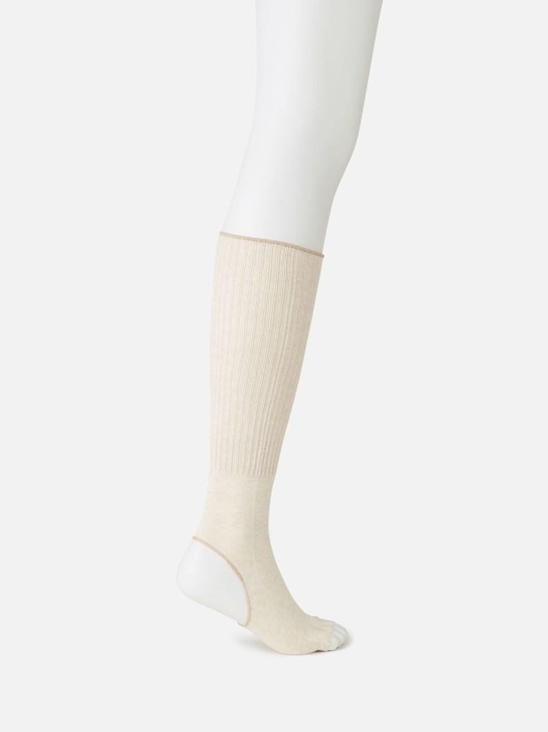 Yoga Lose Mittelsocke mit Zehen aus Bio-Baumwolle
