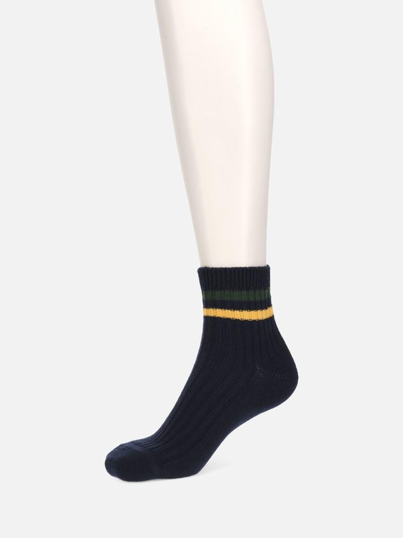 Ribbed Top Bicolore Line 96N Ankle Socks