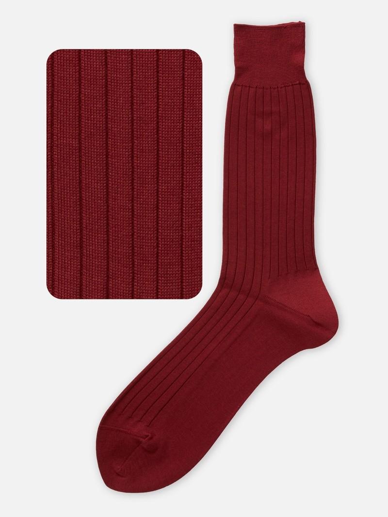 Mi-chaussette côtes pur coton L