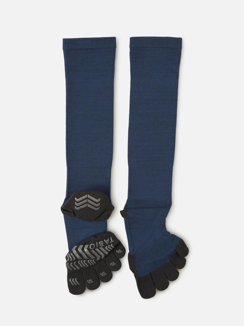 Sports Compression Knee High Toe Socks L