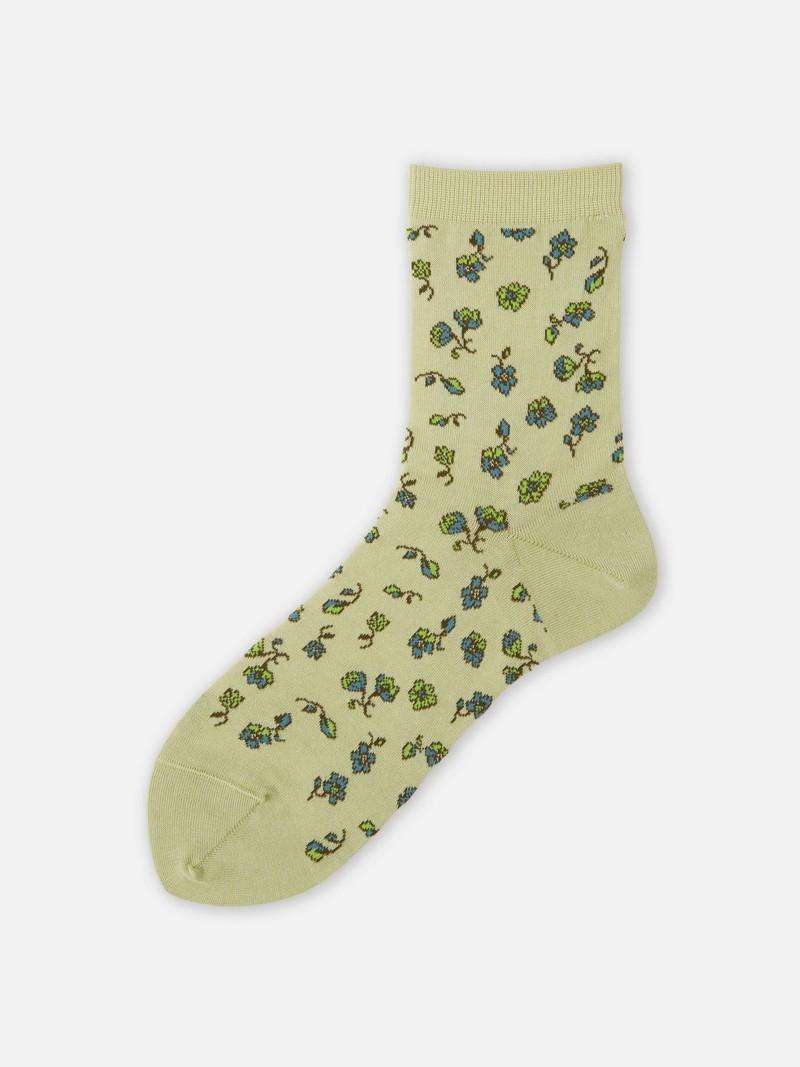 Socquette petites fleurs retro