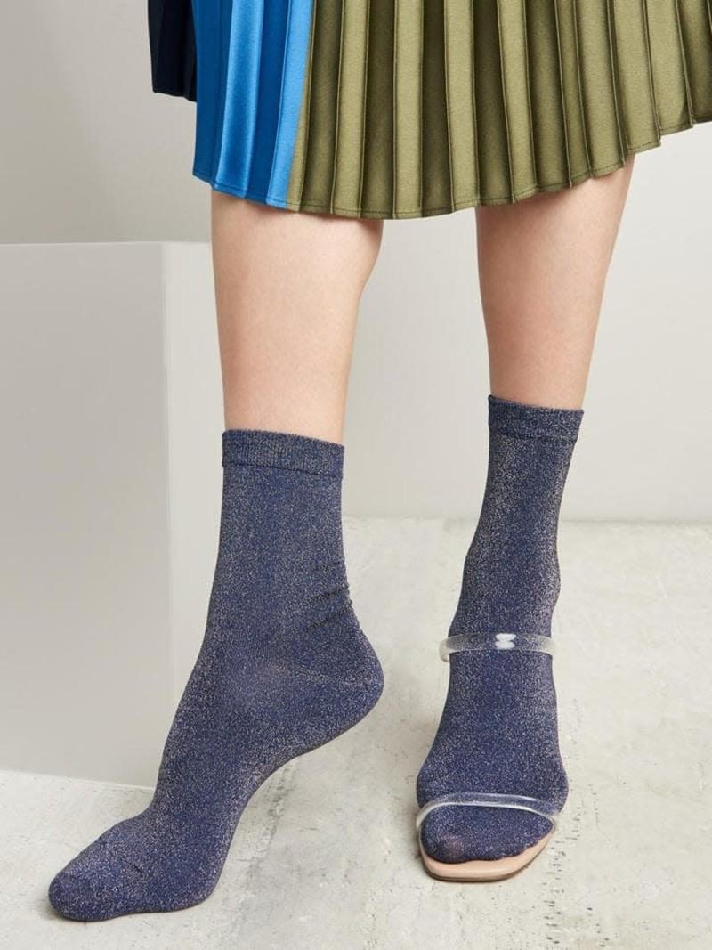 Sparkly Soft Lamé Short Crew Socks 200N
