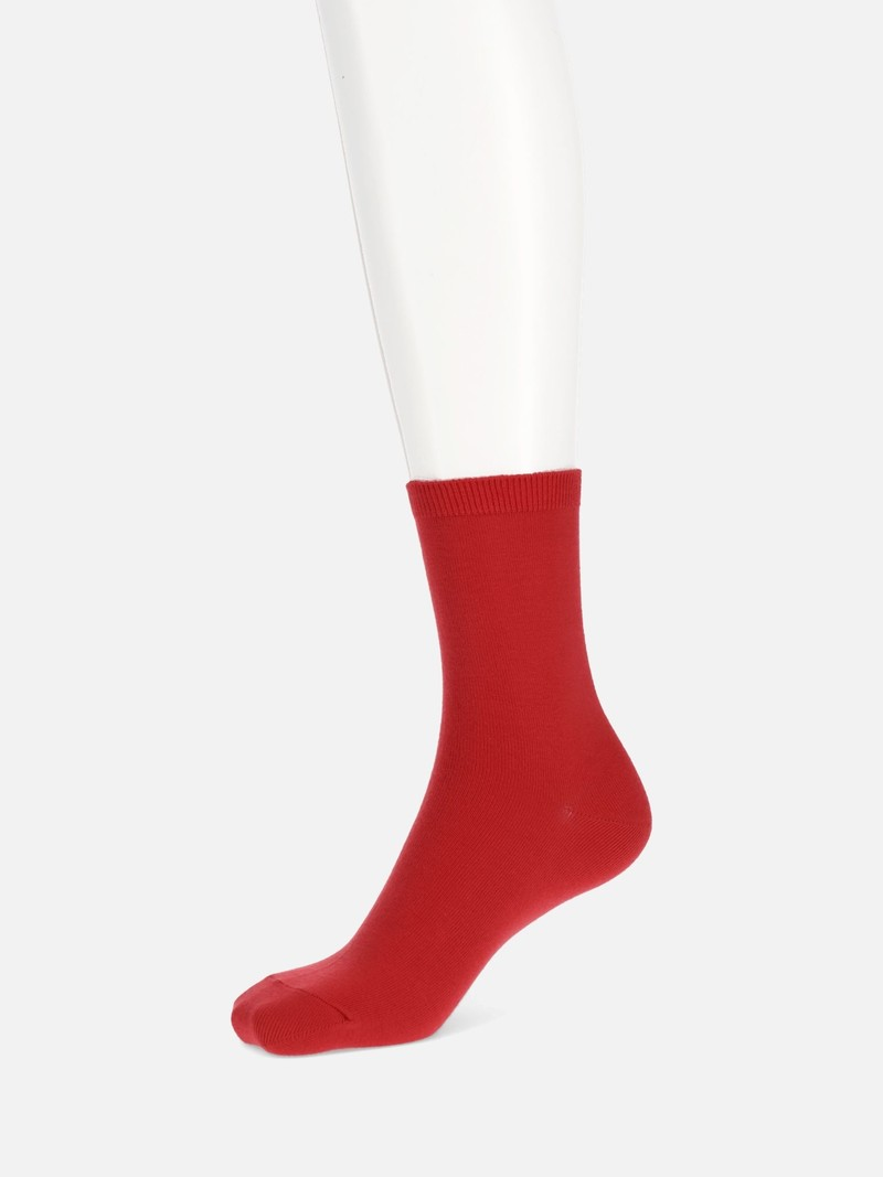 Mi-chaussette unie moyenne jauge