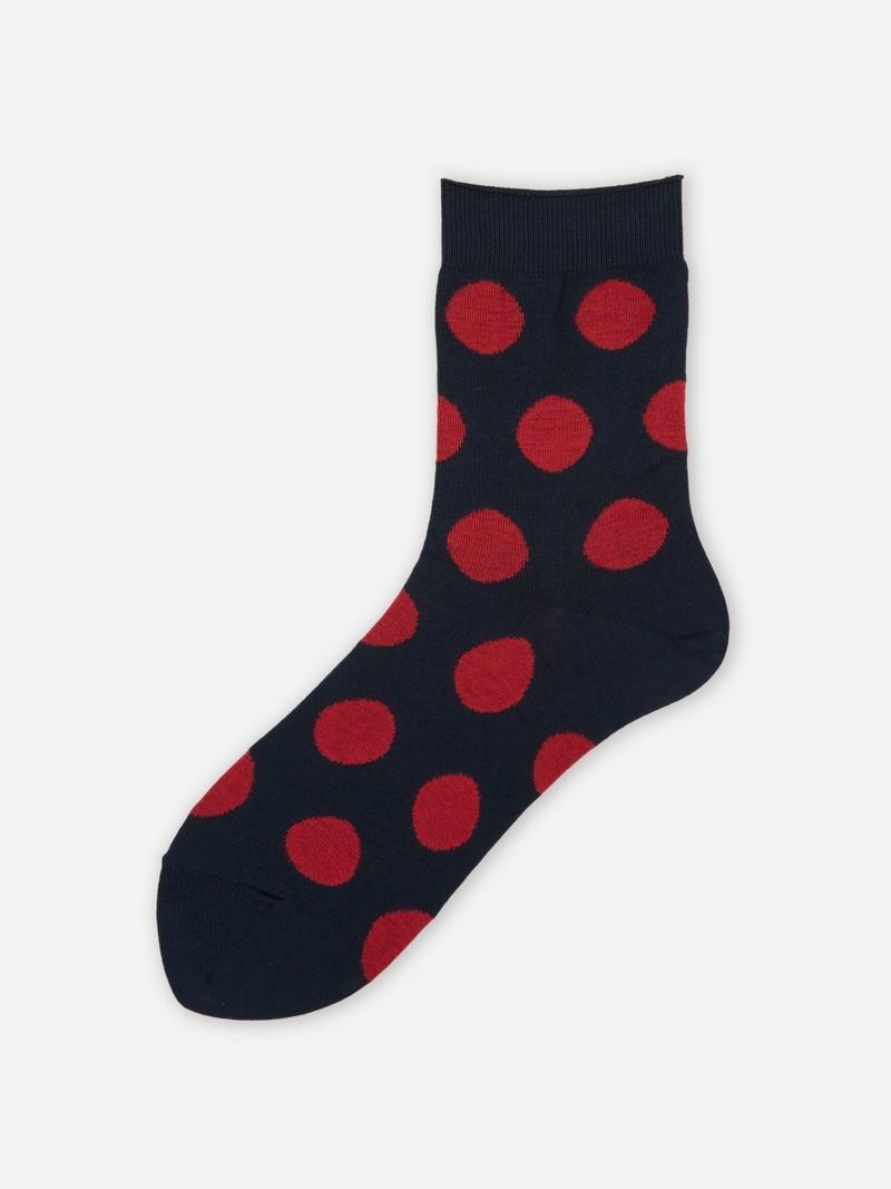 Big Dots Fine Low Crew Socken