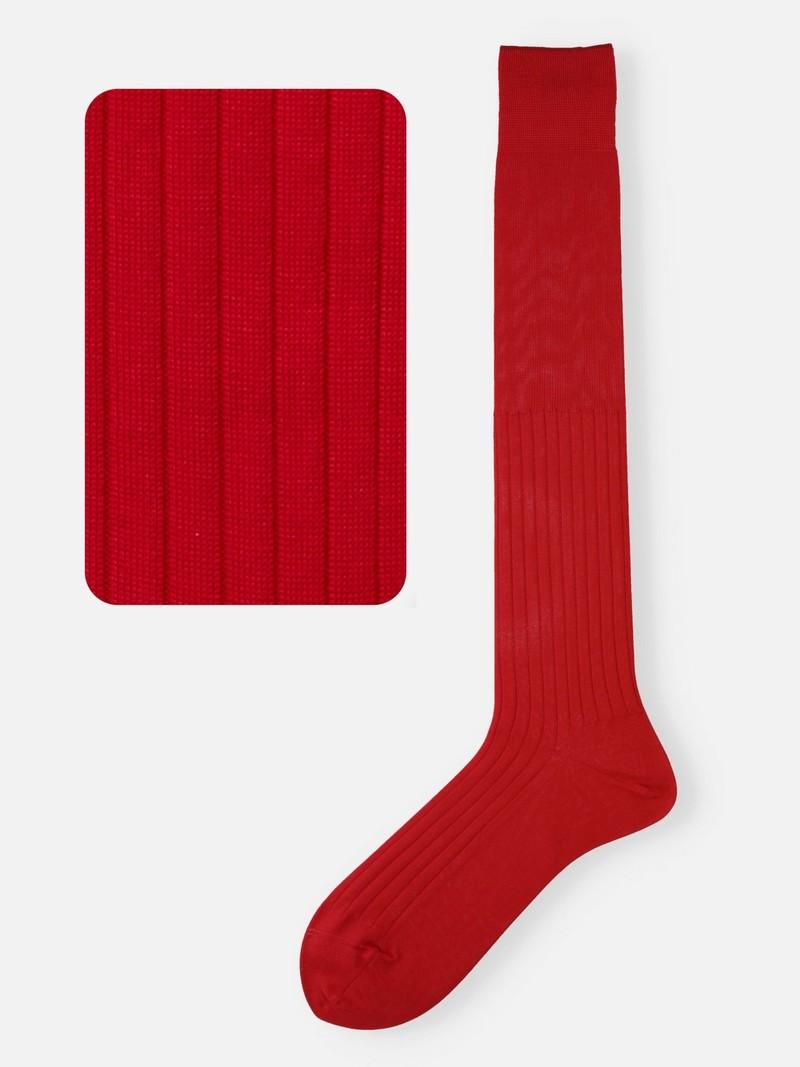100% Cotton Ribbed Knee High Socks L
