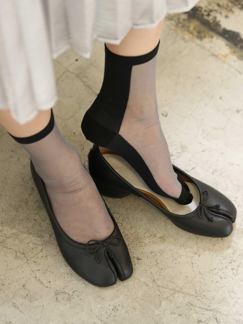 Shher tweekleurige Tabi lage crew sokken