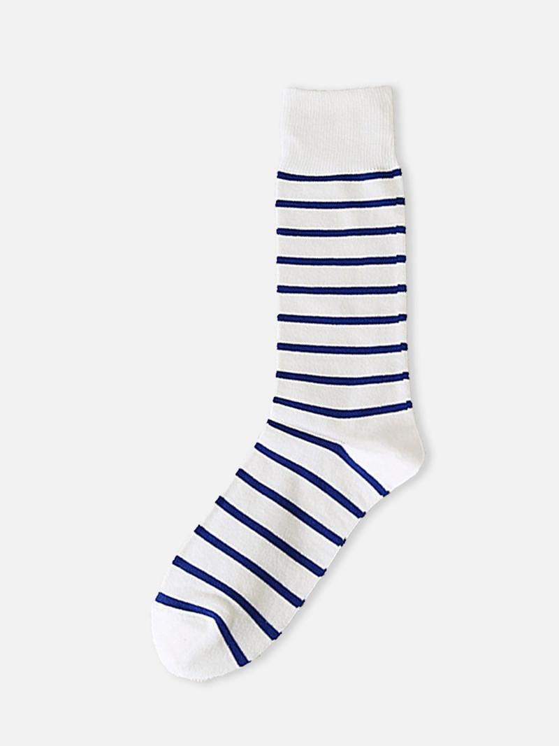 Gestreiftes T-Shirt mit mittlerer Socke S