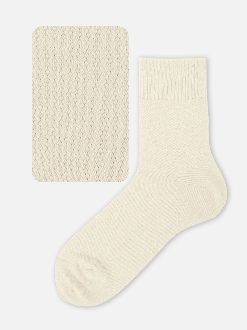 Washi Plain Crepe Short Socks M