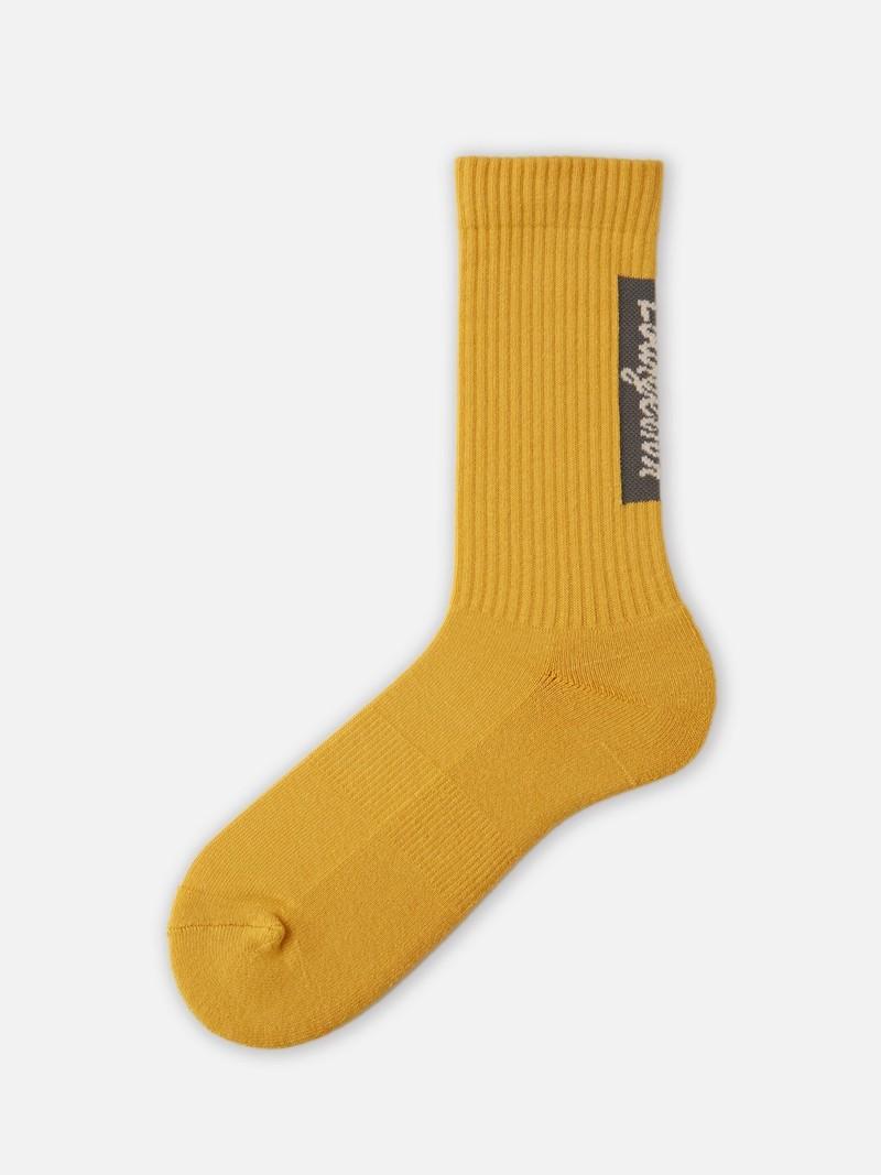 Evangelion Back Logo Rib Crew Socks M