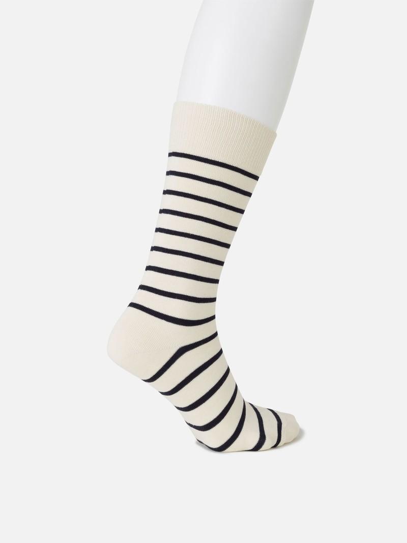 Gestreiftes T-Shirt mit mittlerer Socke M