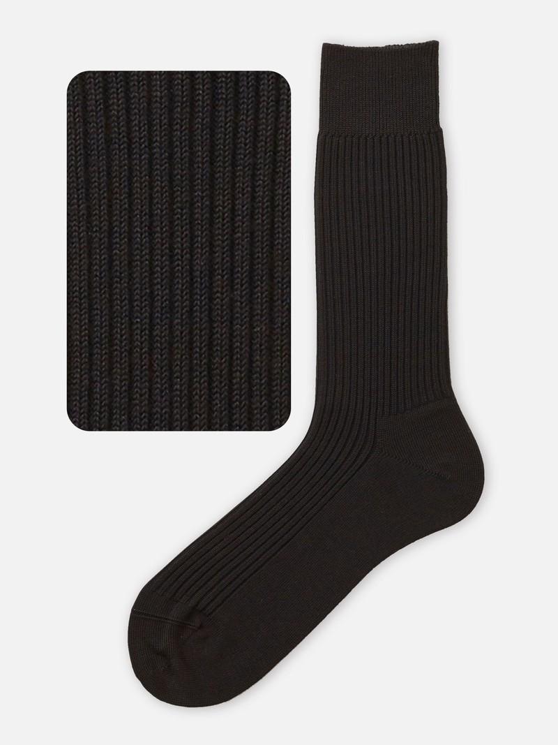 2x2 geribbelde crew sokken M