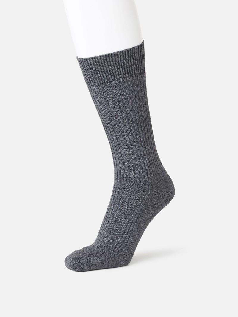 2x2 gerippte Crew-Socken M
