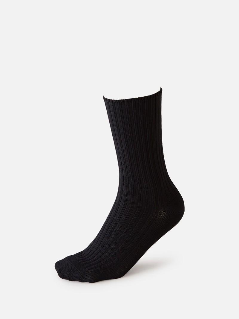 Mi-chaussette côtes 2x2 96N