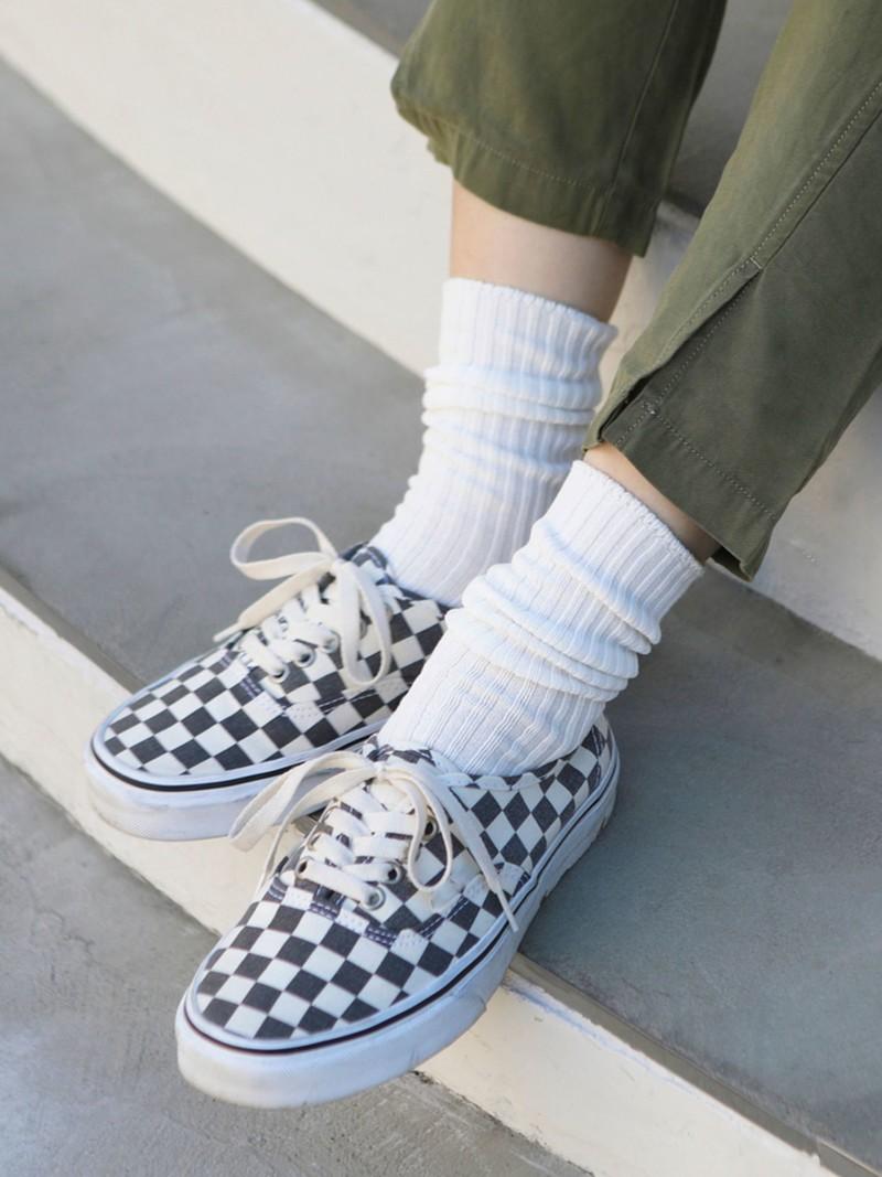 Gerippte Socken 2x2 96N