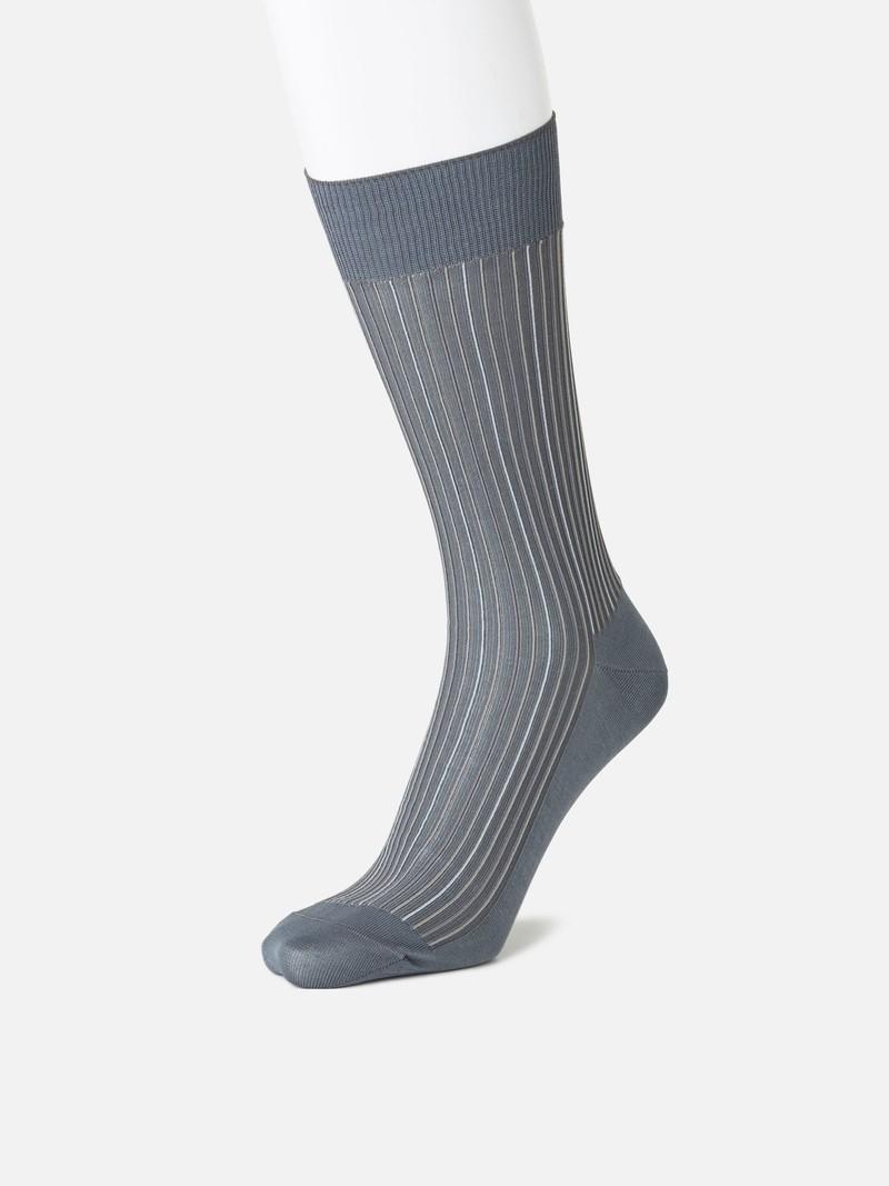 Socken senkrechte Streifen ungeschnitten L