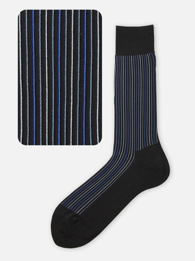 Alternate Stripe Mid Calf Socks M