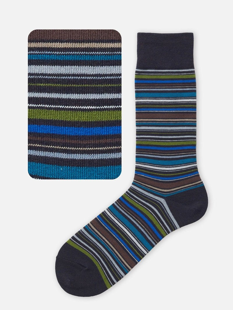 Multi-Stripe Socks M
