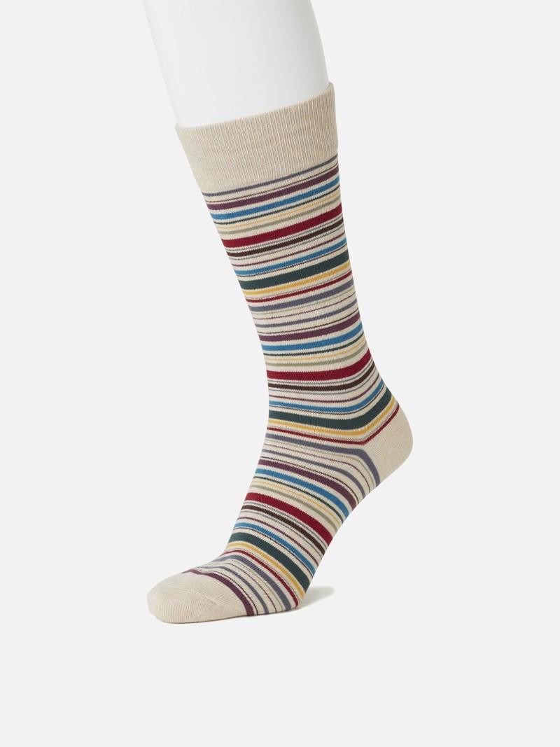 Halflange sok met meerdere strepen L