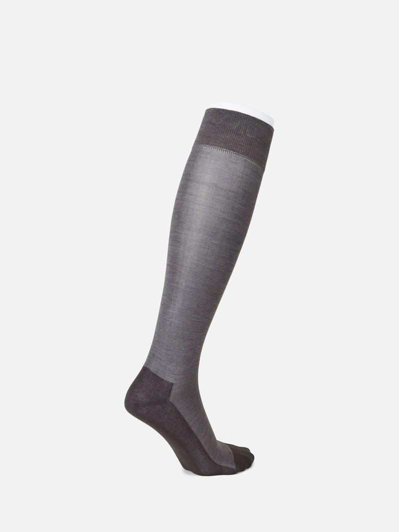 Cotton/Silk Banner High Socks M
