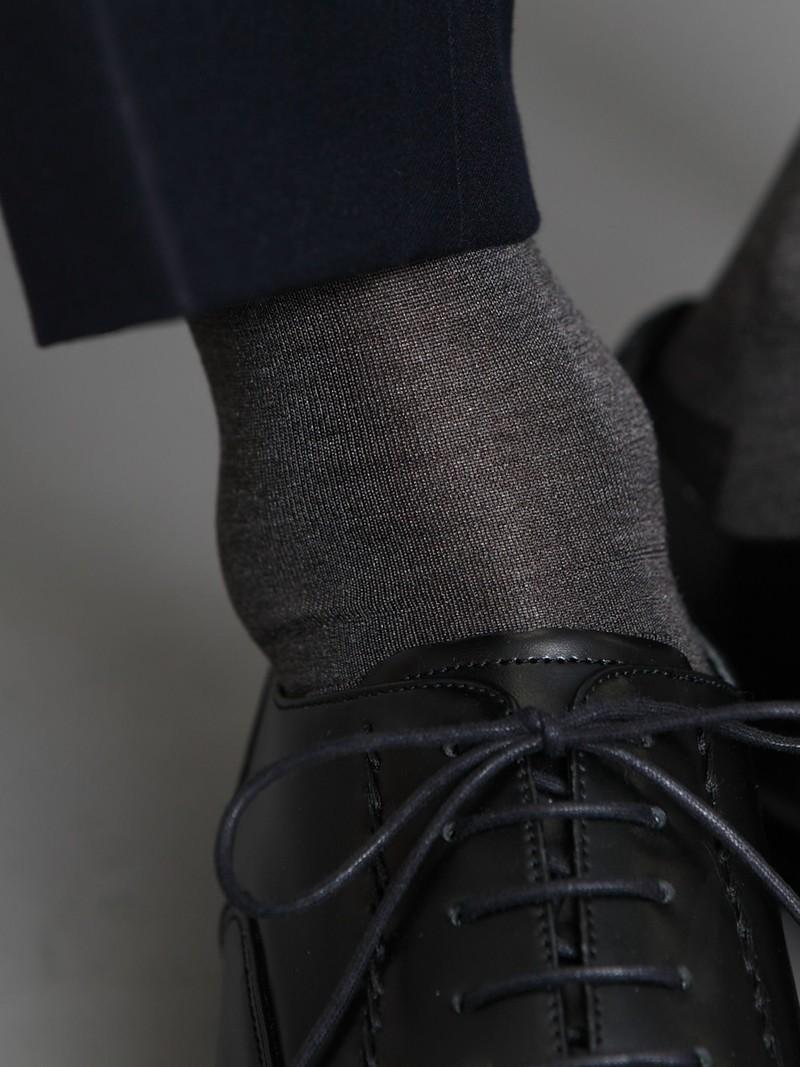 Cotton/Silk Banner High Socks L