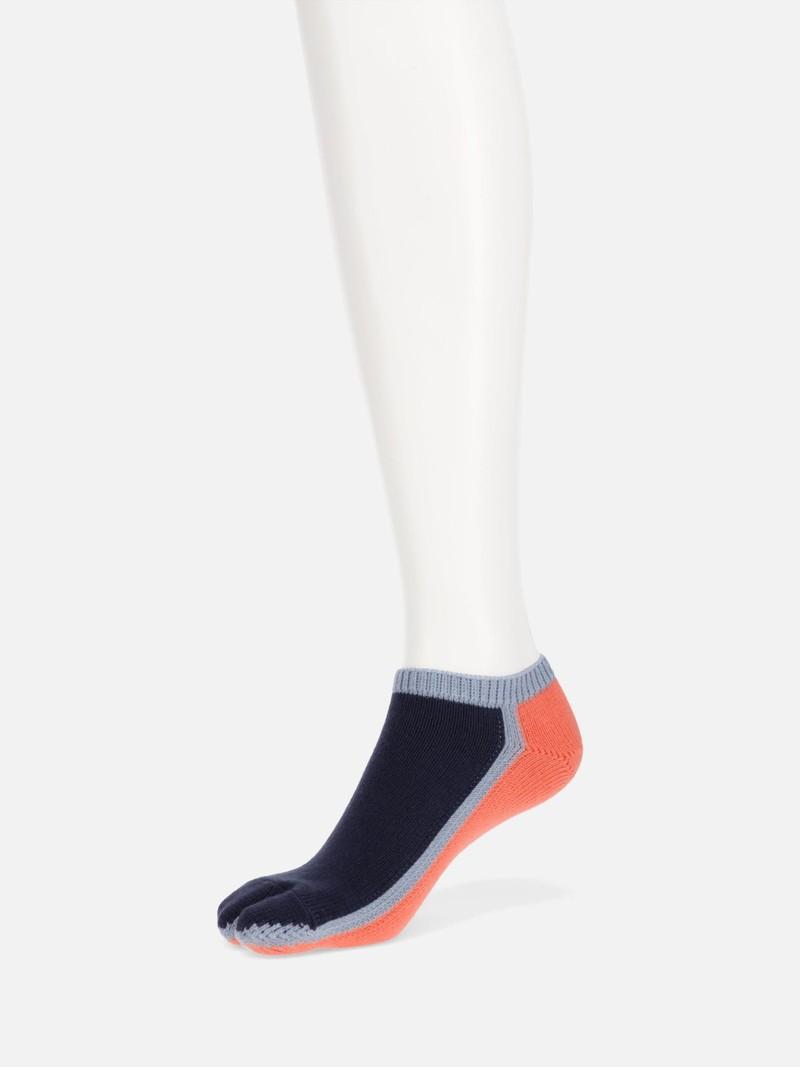 Kleur omlijnde Tabi-sokken S