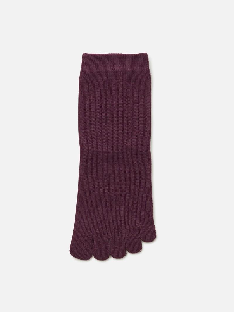 Einfache 5-Zehen-Socke